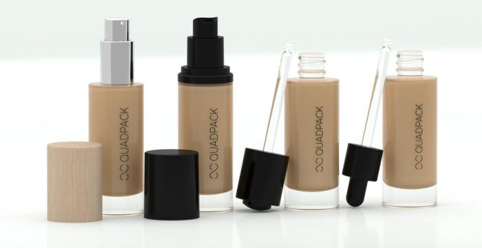 Quadpacks new line for liquid foundation can be tailored to suit