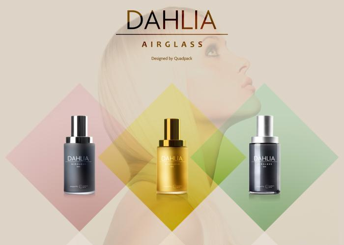 Dahlia blends strength and beauty in airless glass
