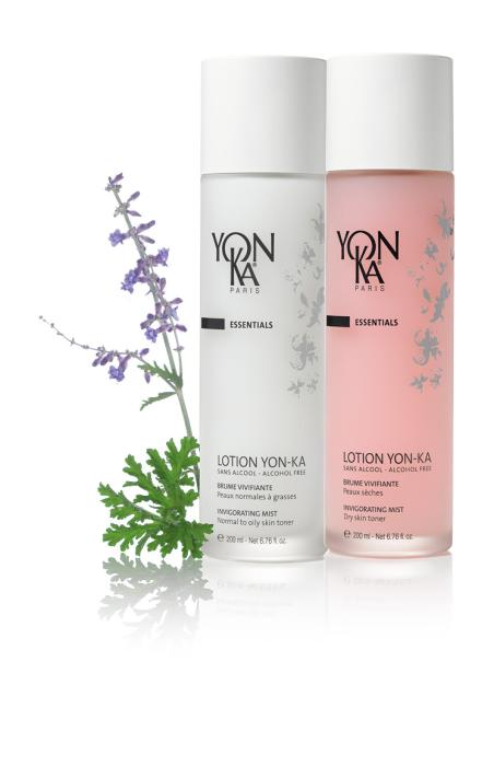 Bespoke glass bottle for Yon-Ka's aromatherapy toners