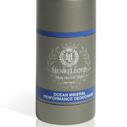 Strong, masculine design for Henri Lloyd deodorant for active men
